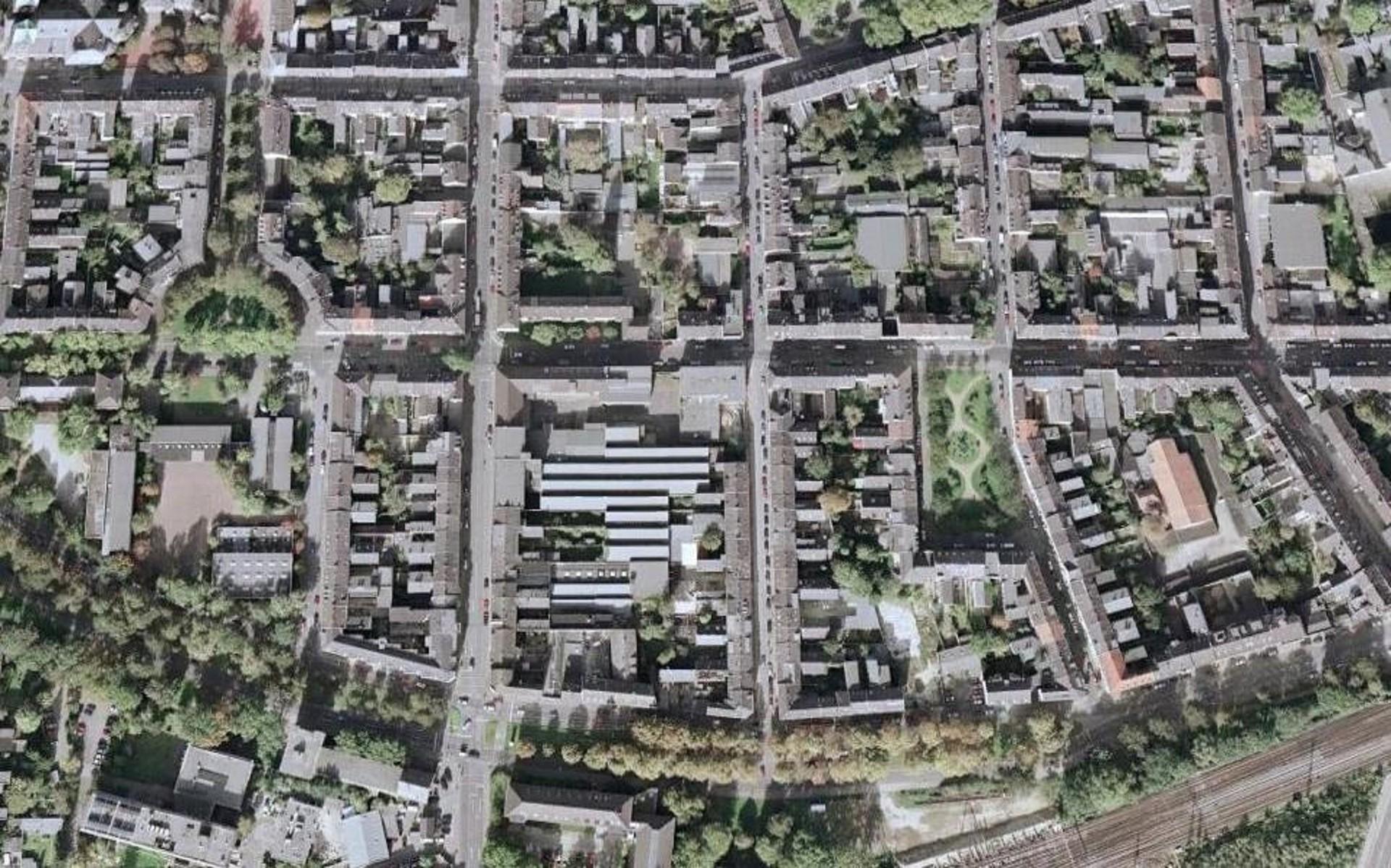Die Samtweberei und das unmittelbare Umfeld - Foto: GoogleEarth