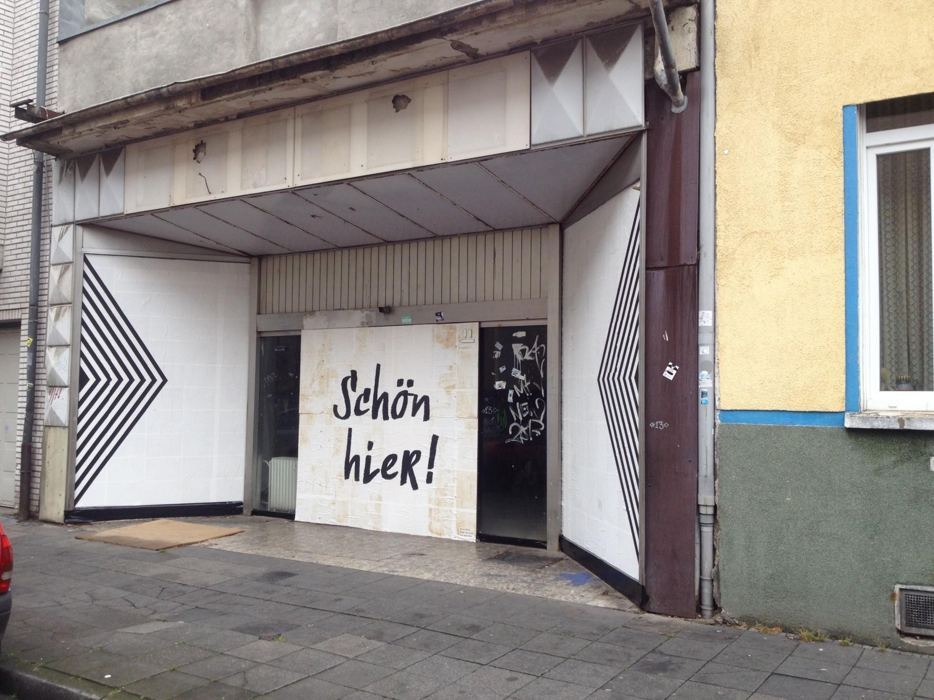 Gestaltung eines Schaufensters eines leeren Supermarkts in der Lewerentzstraße - Foto: Frauke Burgdorff, UNS/MUR