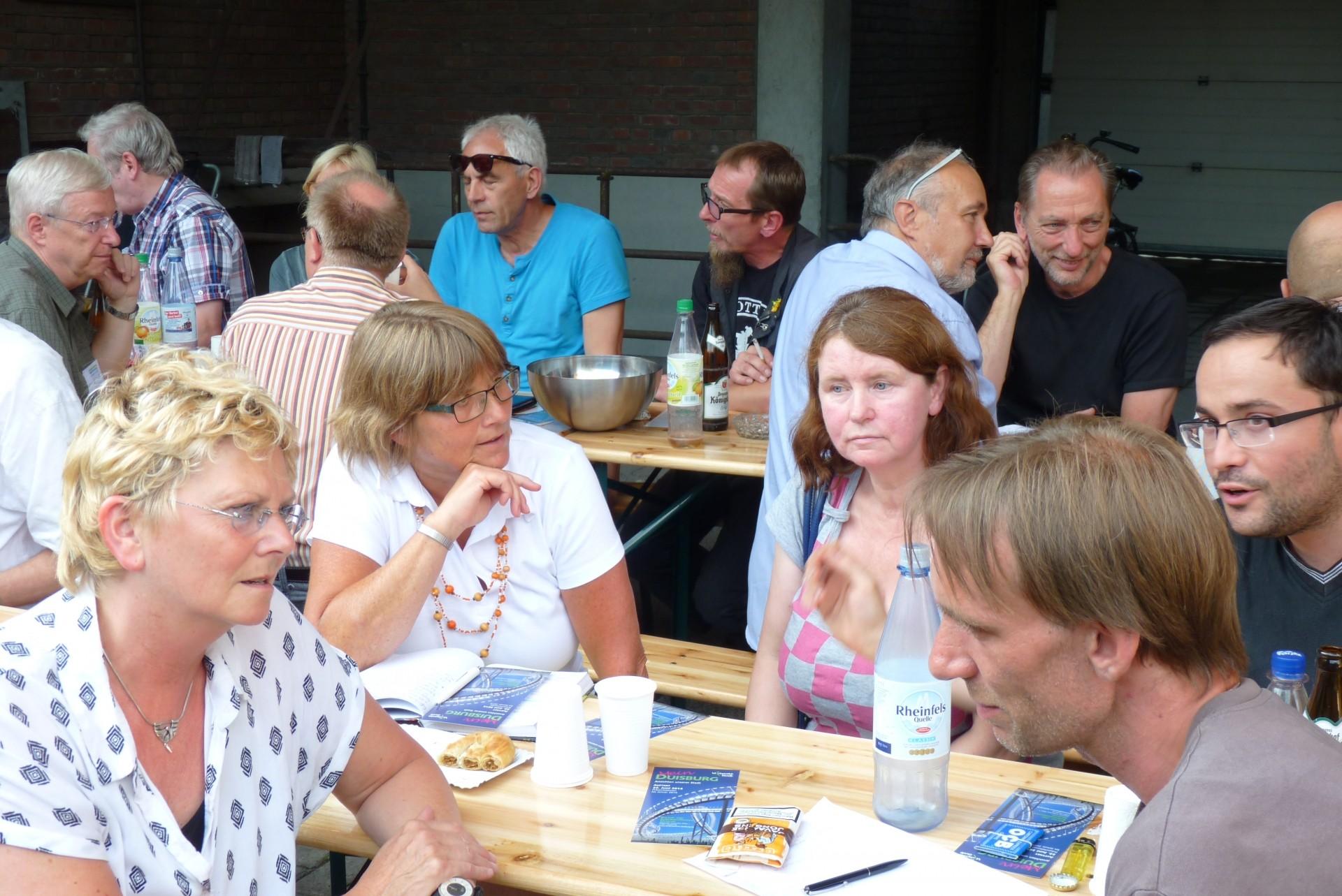 Projektstammtisch am 7. August 2014 - Foto: UNS/MUR