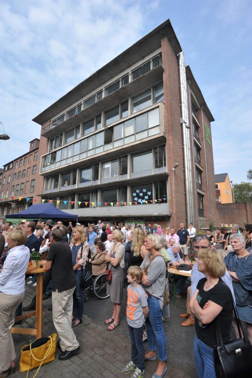 Eröffnung Nachbarschaft Samtweberei: Einführung, Foto: Eberhard Weible